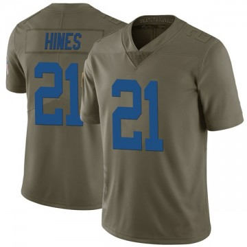 Youth Nike Indianapolis Colts Nyheim Hines Green 2017 Salute to Service Jersey - Limited