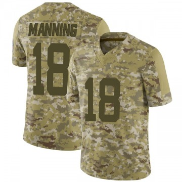 Youth Nike Indianapolis Colts Peyton Manning Camo 2018 Salute to Service Jersey - Limited