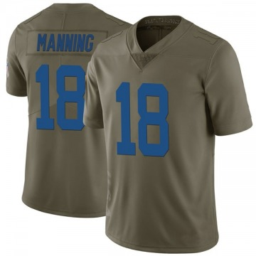 Youth Nike Indianapolis Colts Peyton Manning Green 2017 Salute to Service Jersey - Limited