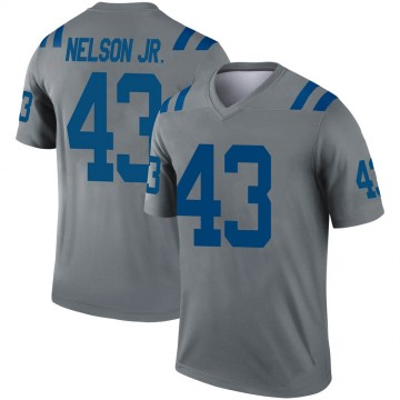 Youth Nike Indianapolis Colts Picasso Nelson Jr. Gray Inverted Jersey - Legend