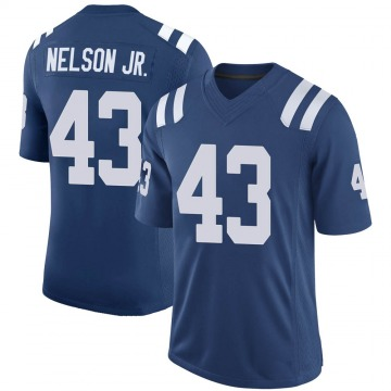Youth Nike Indianapolis Colts Picasso Nelson Jr. Royal 100th Vapor Jersey - Limited
