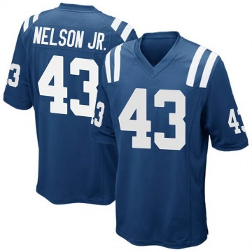 Youth Nike Indianapolis Colts Picasso Nelson Jr. Royal Blue Team Color Jersey - Game