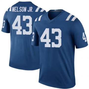 Youth Nike Indianapolis Colts Picasso Nelson Jr. Royal Color Rush Jersey - Legend