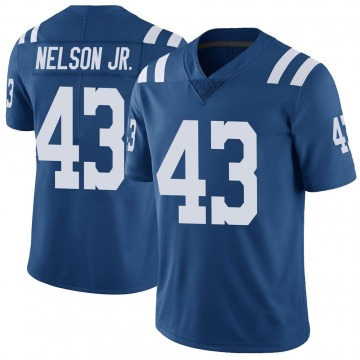 Youth Nike Indianapolis Colts Picasso Nelson Jr. Royal Color Rush Vapor Untouchable Jersey - Limited