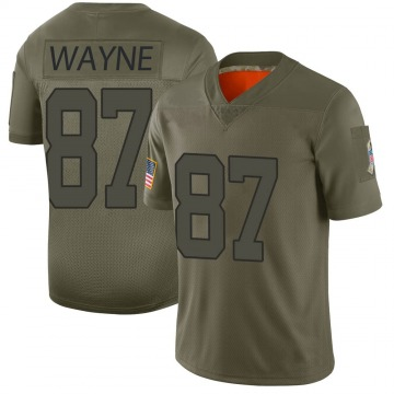 Youth Nike Indianapolis Colts Reggie Wayne Camo 2019 Salute to Service Jersey - Limited