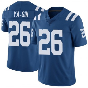 Youth Nike Indianapolis Colts Rock Ya-Sin Royal Color Rush Vapor Untouchable Jersey - Limited