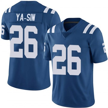 Youth Nike Indianapolis Colts Rock Ya-Sin Royal Team Color Vapor Untouchable Jersey - Limited
