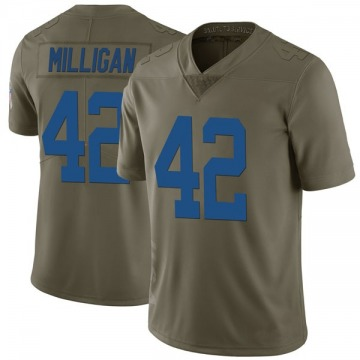 Youth Nike Indianapolis Colts Rolan Milligan Green 2017 Salute to Service Jersey - Limited