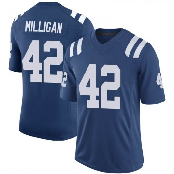 Youth Nike Indianapolis Colts Rolan Milligan Royal 100th Vapor Jersey - Limited