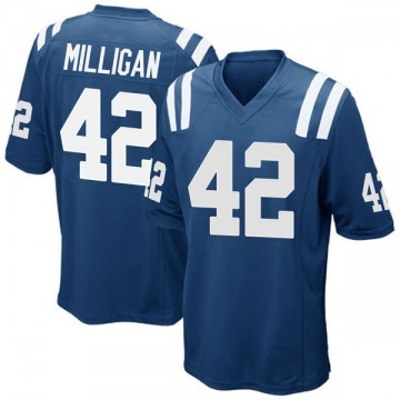 Youth Nike Indianapolis Colts Rolan Milligan Royal Blue Team Color Jersey - Game