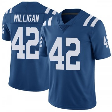 Youth Nike Indianapolis Colts Rolan Milligan Royal Color Rush Vapor Untouchable Jersey - Limited