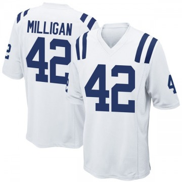 Youth Nike Indianapolis Colts Rolan Milligan White Jersey - Game