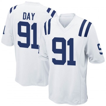 Youth Nike Indianapolis Colts Sheldon Day White Jersey - Game