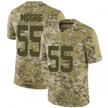 Youth Nike Indianapolis Colts Skai Moore Camo 2018 Salute to Service Jersey - Limited