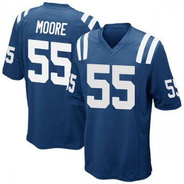 Youth Nike Indianapolis Colts Skai Moore Royal Blue Team Color Jersey - Game
