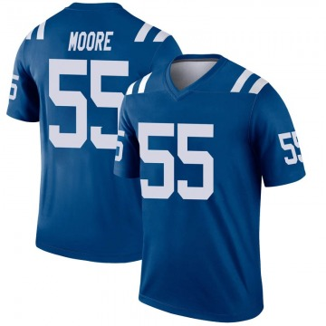 Youth Nike Indianapolis Colts Skai Moore Royal Inverted Jersey - Legend