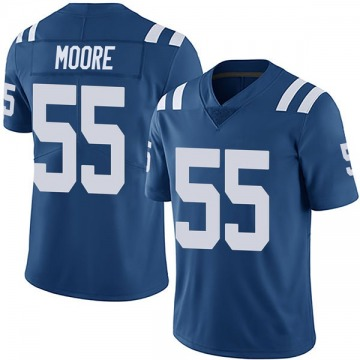 Youth Nike Indianapolis Colts Skai Moore Royal Team Color Vapor Untouchable Jersey - Limited