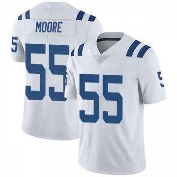 Youth Nike Indianapolis Colts Skai Moore White Vapor Untouchable Jersey - Limited