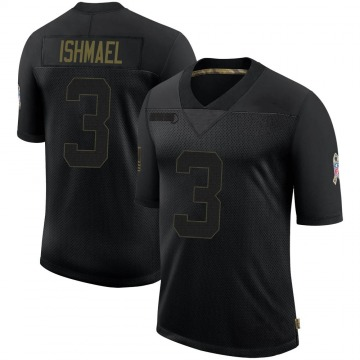 Youth Nike Indianapolis Colts Steve Ishmael Black 2020 Salute To Service Jersey - Limited
