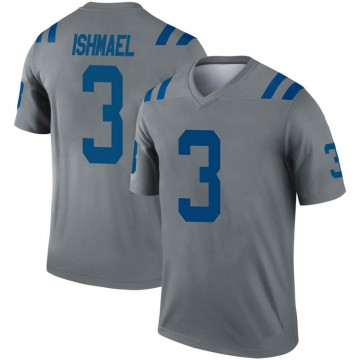 Youth Nike Indianapolis Colts Steve Ishmael Gray Inverted Jersey - Legend