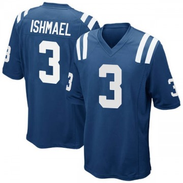 Youth Nike Indianapolis Colts Steve Ishmael Royal Blue Team Color Jersey - Game