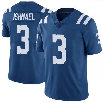 Youth Nike Indianapolis Colts Steve Ishmael Royal Color Rush Vapor Untouchable Jersey - Limited