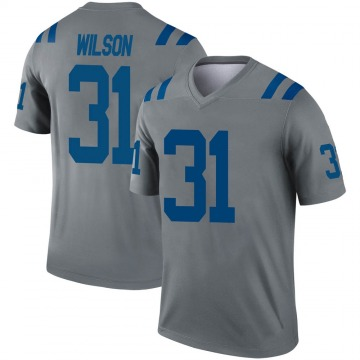Youth Nike Indianapolis Colts Tavon Wilson Gray Inverted Jersey - Legend