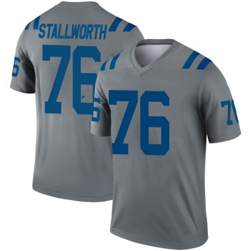 Youth Nike Indianapolis Colts Taylor Stallworth Gray Inverted Jersey - Legend