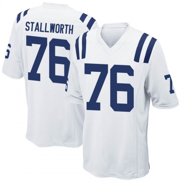 Youth Nike Indianapolis Colts Taylor Stallworth White Jersey - Game