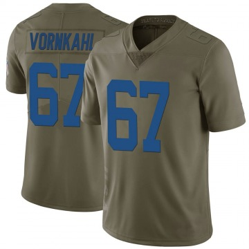 Youth Nike Indianapolis Colts Travis Vornkahl Green 2017 Salute to Service Jersey - Limited