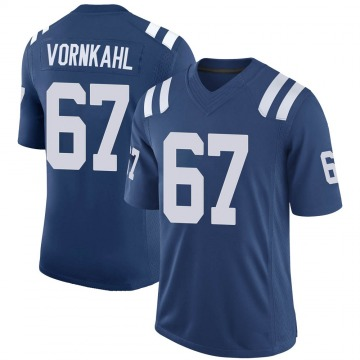 Youth Nike Indianapolis Colts Travis Vornkahl Royal 100th Vapor Jersey - Limited