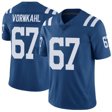 Youth Nike Indianapolis Colts Travis Vornkahl Royal Color Rush Vapor Untouchable Jersey - Limited