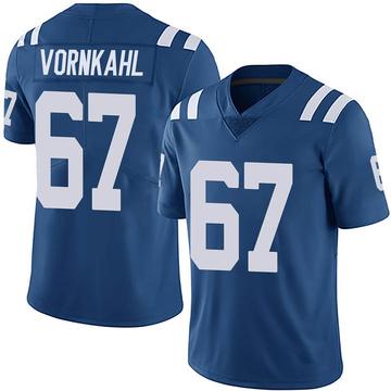 Youth Nike Indianapolis Colts Travis Vornkahl Royal Team Color Vapor Untouchable Jersey - Limited