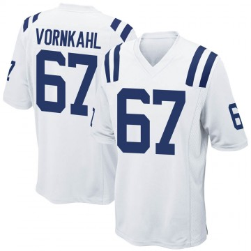 Youth Nike Indianapolis Colts Travis Vornkahl White Jersey - Game