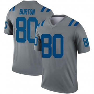 Youth Nike Indianapolis Colts Trey Burton Gray Inverted Jersey - Legend