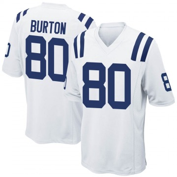 Youth Nike Indianapolis Colts Trey Burton White Jersey - Game