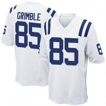 Youth Nike Indianapolis Colts Xavier Grimble White Jersey - Game